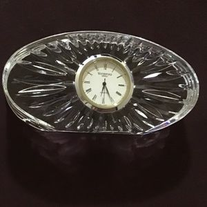 WATERFORD CRYSTAL OVAL TABLETOP CLOCK